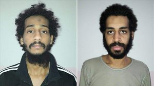 El Shafee el Sheikh (izquierda) y Alexanda Koley tras ser capturados en el 2018.