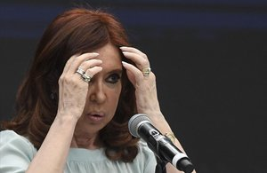 La expresidenta argentina,Cristina Fernández de Kirchner.