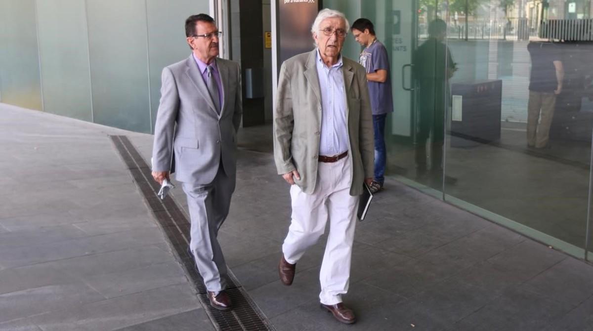 El extesorero de CDC Daniel Osàcar, en la Ciutat de la Justícia.