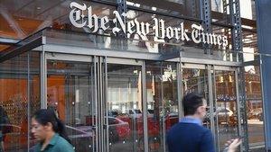 Fachada del edificio que alberga la redacción de 'The New York Times.