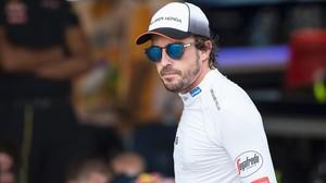 Fernando Alonso, el pasado fin de semana en Baku.
