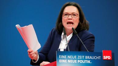 Andrea Nahles, una mujer para resucitar al SPD