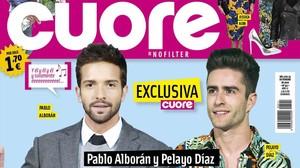 La amistad de Pablo Alborán y Pelayo Díaz, portada de la revista Cuore.