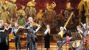 Gilles Colliard, al frente de la Orquesta Barroca de Barcelona
