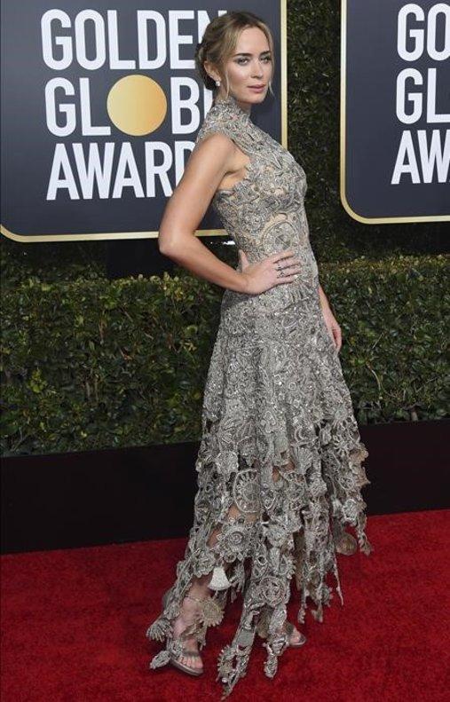 Emily Blunt, con vestido de Alexander McQueen.