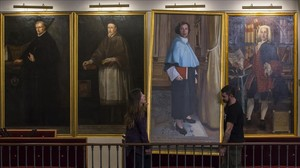Instalación por primera vez en la historia de la Universitat de Valenciadelcuadro de una mujer, Olimpia Arozena,una de las primeras profesoras de la institución.La obra ha sido realizada por la pintora valenciana Susana Roig Hervas.