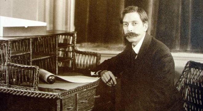 El músico en la Casa Eolian de Nueva York en 1916.