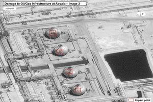 Imágenes de EEUU que muestran los daños en Arabia Saudí.