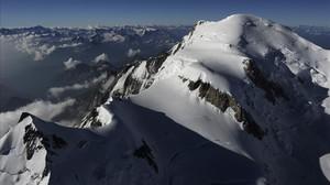 Imatge aèria del Mont Blanc en un sobrevol del 2010.