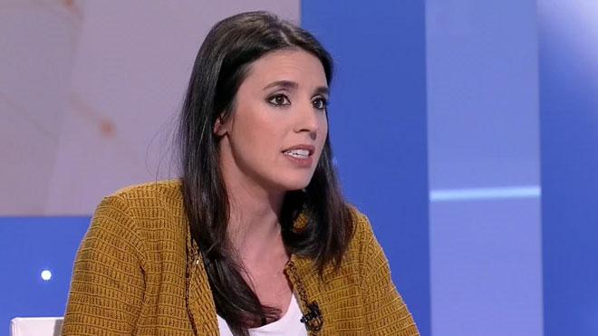 Irene Montero asegura que una mujer sucederá a Iglesias en Podemos y que eso ocurrirá pronto.