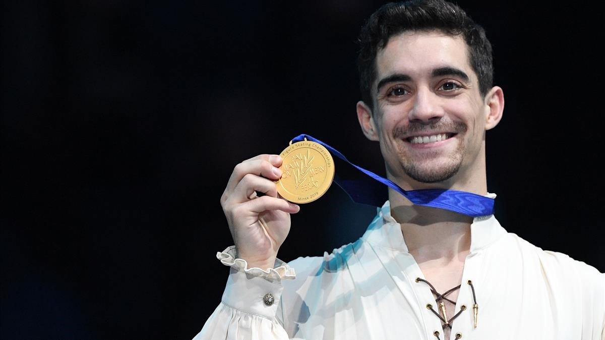 Javier Fernández, con su séptimo oro europeo.