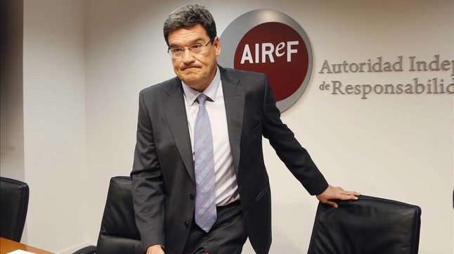 José Luis Escrivá, presidente de la Autoridad Independiente de Responsabilidad Fiscal (AIReF), en una imagen de archivo.