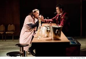 Manel Sans (izquierda)y Julio Manrique, en un ensayo de Don Joan.