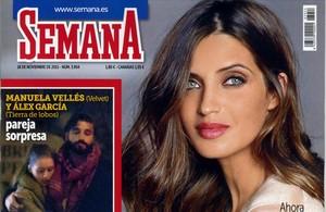 La revista Semana publica la nueva relación entre los actores Manuela Vellés (Velvet) y Alex García.