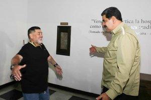 Maradona viajó desde Argentina para dar su apoyo a Nicolás Maduro.