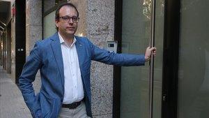 Marc Solsona, en la sede del PDECat en Barcelona