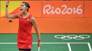 Carolina Marín aconsegueix un còmode accés a les semifinals de Rio 2016