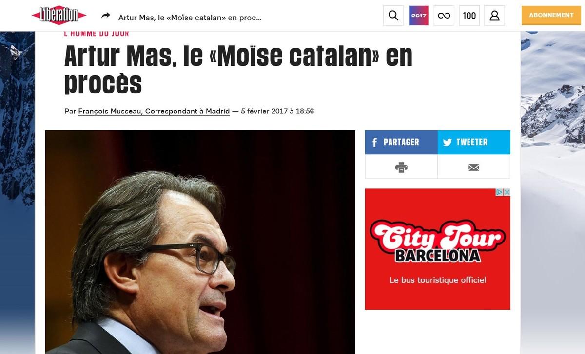 El juicio a Mas, Rigau y Ortega ocupa un lugar destacado en la prensa europea