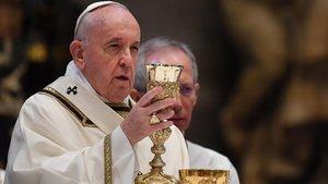 El Papa, en la misa del Domingo de Resurrección.