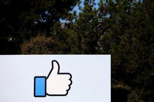 La señal de 'Me gusta 'en la sede de Facebook en California.