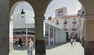 Imagen virtual de la futura plaza del Mercadal y el mercado de Sant Andreu