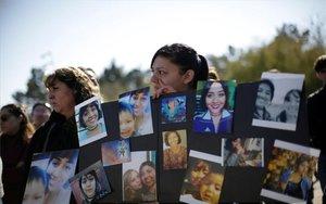 Protestas por el asesinato de Isabel Cabanillas en México.