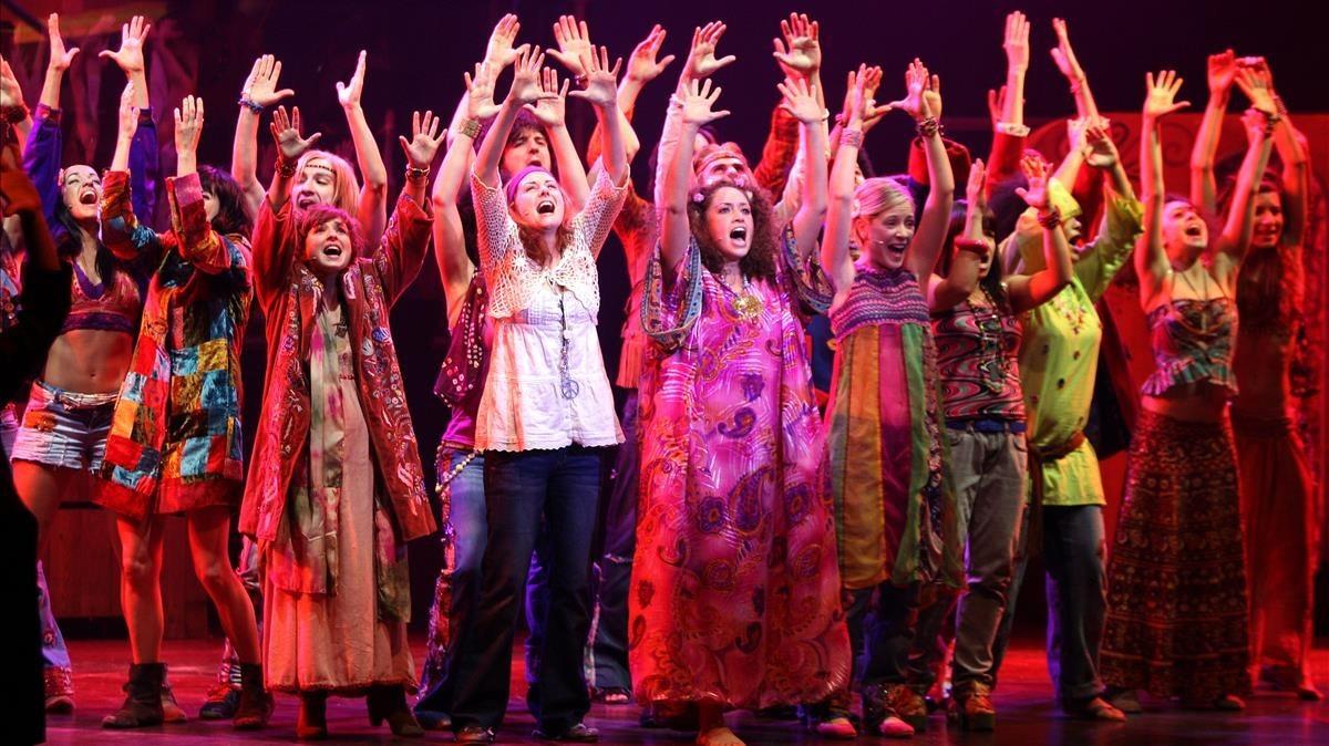 Un momento del musical Hair en el teatro Apolo, en diciembre del 2010