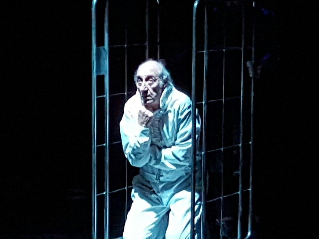 El ancianoMontag permaneceencerradoen un psiquiátrico.