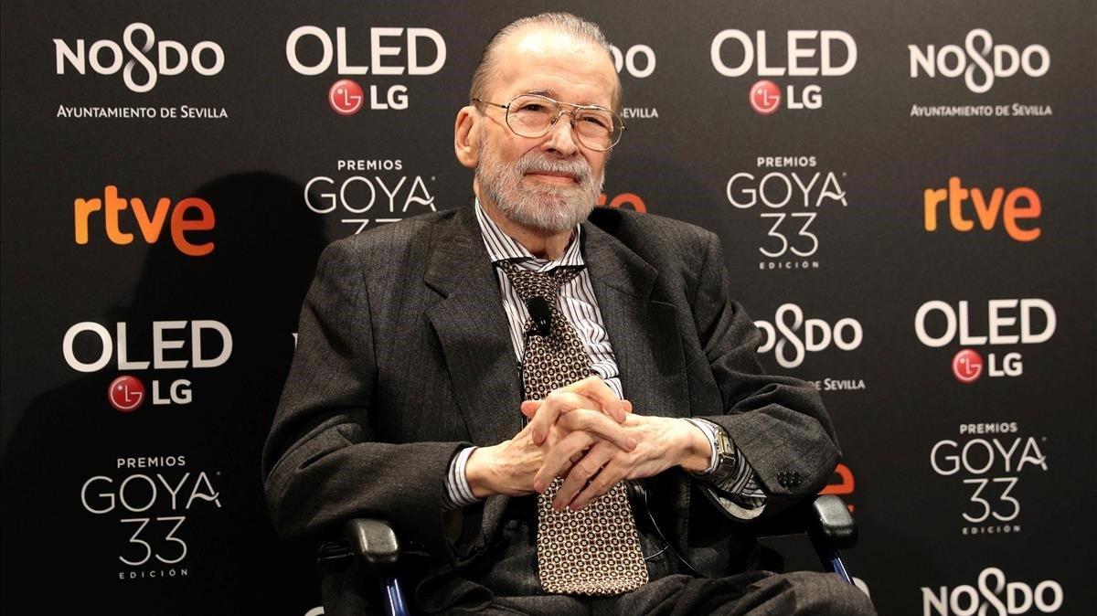 Narciso Ibañéz Serrador, en la Academia de Cine, a su llegadaa la tradicional fiesta de nominados en el Teatro Real de Madrid