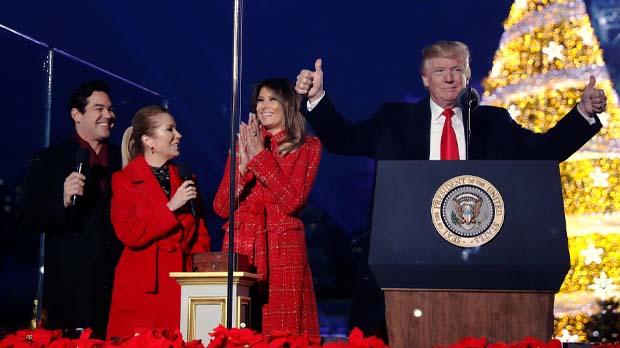 Es la primera vez que Donald Trump pasa el período navideño como presidente de los Estados Unidos.