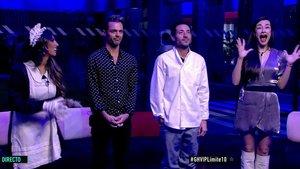 Noemí, Hugo Castejón, Antonio David y Adara en 'GH VIP'.