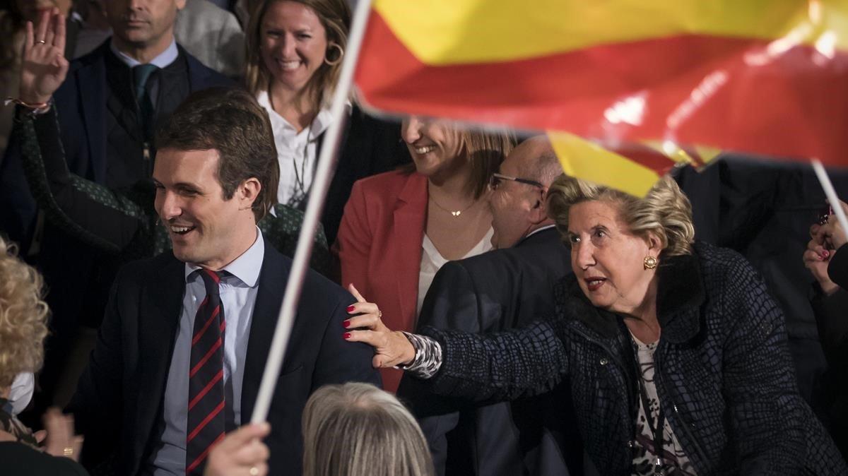 Pablo Casado durante un acto en Valencia.