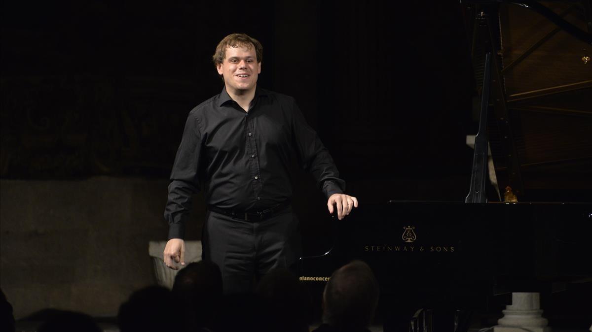 El pianista Ignasi Cambra, tras una actuación.