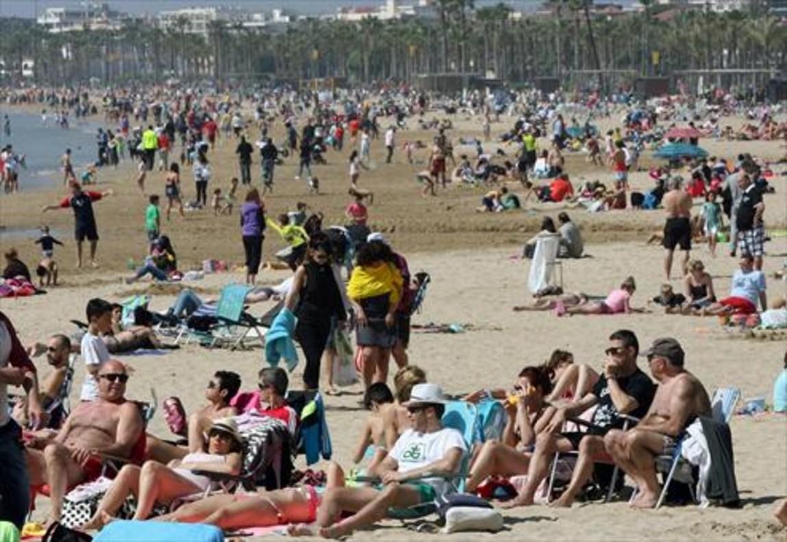 Playa de Levante en Salou (Tarragona), en una imagen de archivo.