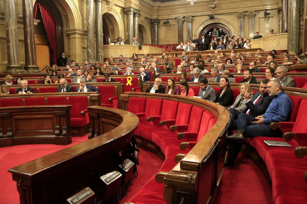 Pleno del Parlament, el 12 de noviembre.