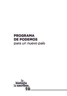 Programa electoral de Unidas Podemos para las elecciones generales del 2019.