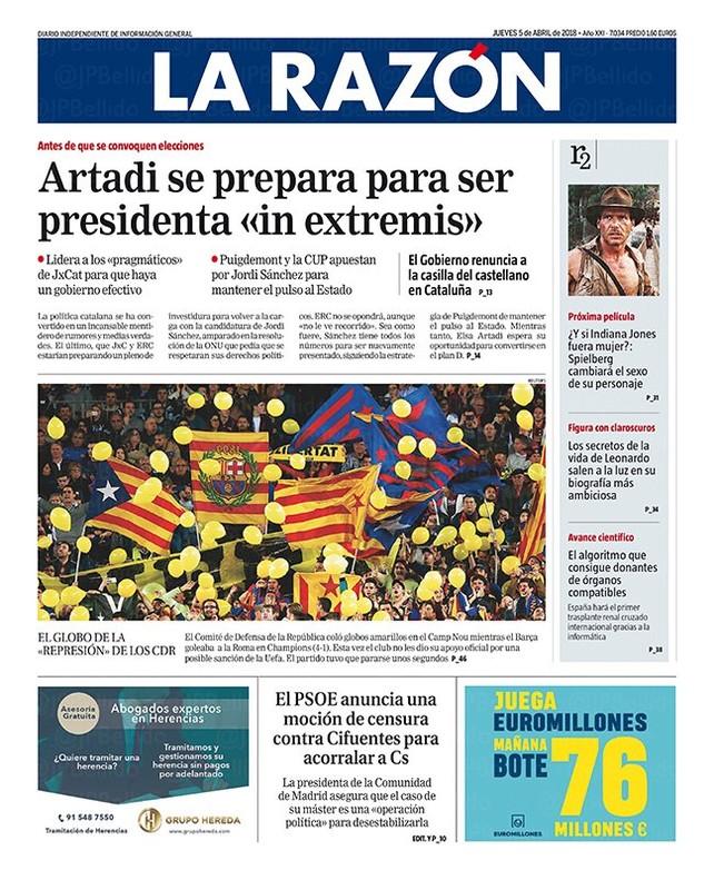 Artadi se prepara para ser presidenta de la Generalitat in extremis, según 'La Razón'
