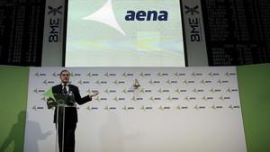 El presidente de Aena, José Manuel Vargas, en un acto en febrero del 2015.