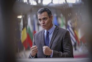 El presidente del Gobierno, Pedro Sánchez, a su llegada, el pasado 15 de octubre, al Consejo Europeo en Bruselas.