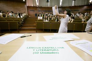 Prueba de castellano en la selectividad de junio del 2015, en la UB.