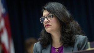 Rashida Tlaib, en una comisión en el Capitolio, el pasado 17 de julio.
