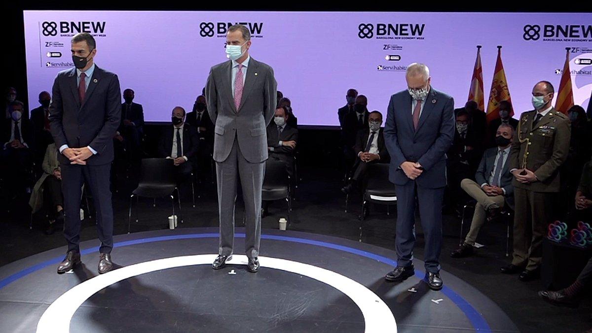 El Rey durante su intervención en el BNEW.