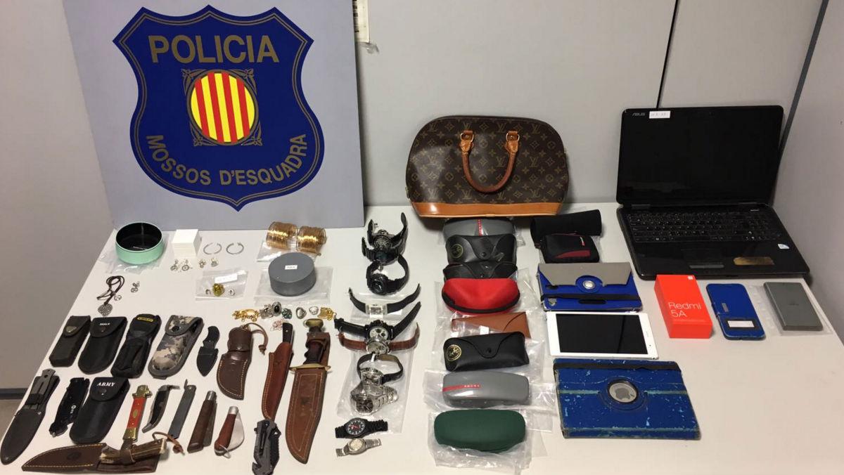 Artículos robados por los ladrones especializados en el método de la radiografía.