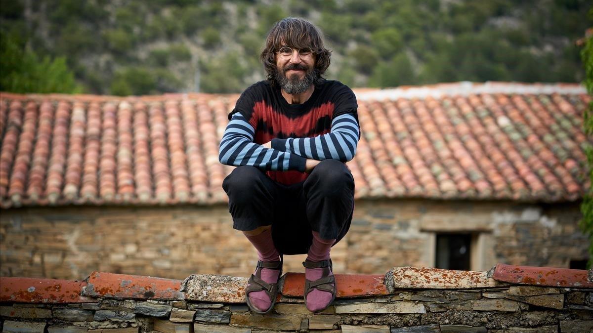 Santi Millán, caracterizado como Moncho en 'El pueblo'.