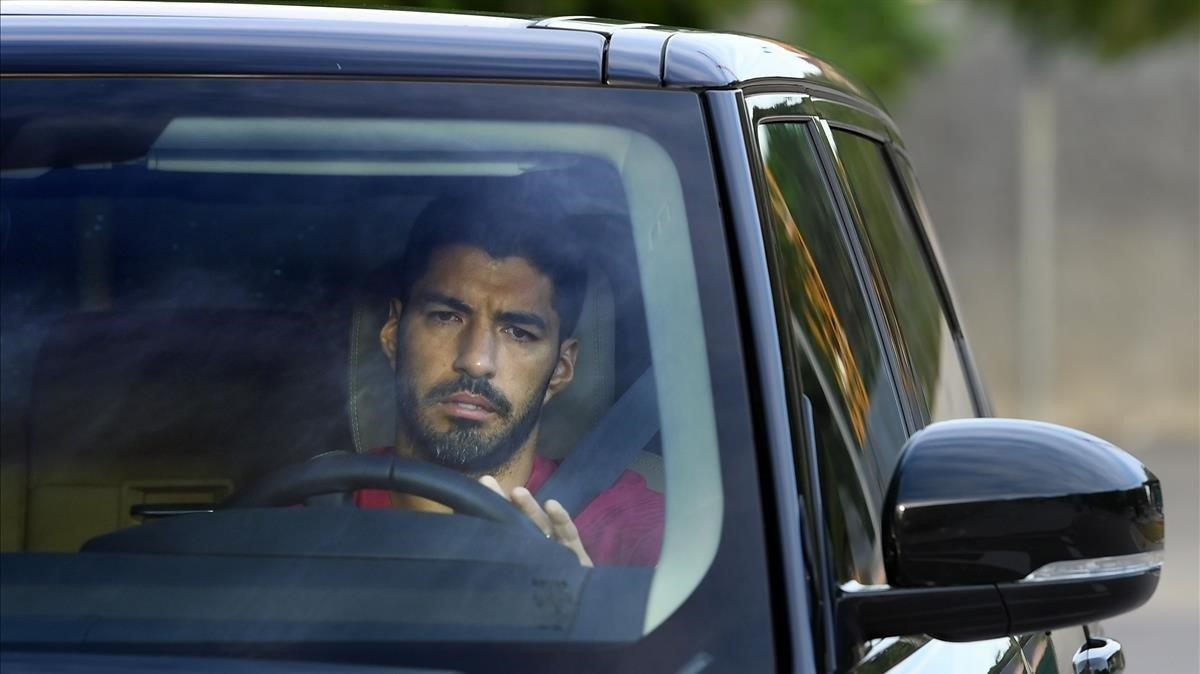 Suárez, en la ciudad deportiva del Barça.