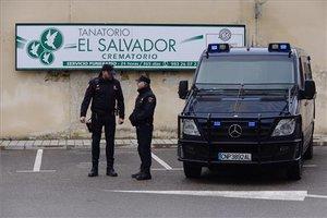 El crematorio del tanatorio El Salvador, en Valladolid.