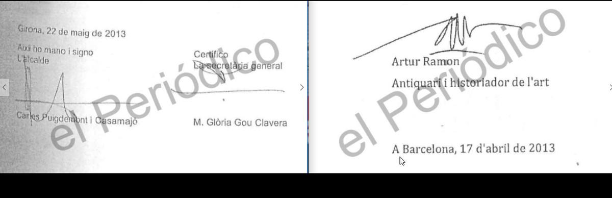 La tasación del fondo artístico Santos Torroella, rubricadapor el perito más de un mes antes de que Puigdemont, entonces alcalde de Girona, firmara el decreto para contratarle y solicitar dicha valoración.