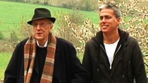 Mossèn Ballarín y Albert Om, en el programa de TV-3 'El convidat'.