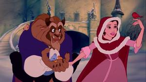 Una escena de la película de animación LaBella y la Bestia, de 1991.