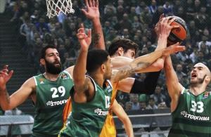 Tomic, enredado entre tres contrarios del Panathinaikos, que le niegan la salida